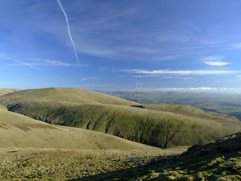De heuvels van Ochil stock afbeeldingen