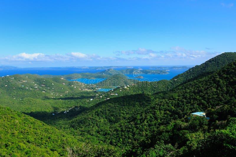 De heuvels van St. John, USVI stock afbeelding