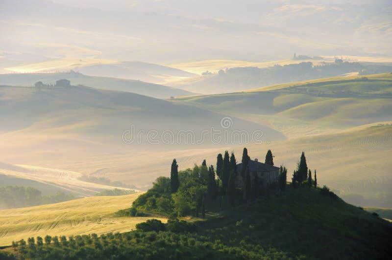 De heuvels van Toscanië royalty-vrije stock foto