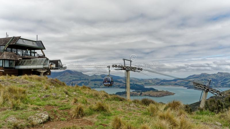 De Heuvelsgondel van de Christchurchhaven, Nieuw Zeeland royalty-vrije stock fotografie