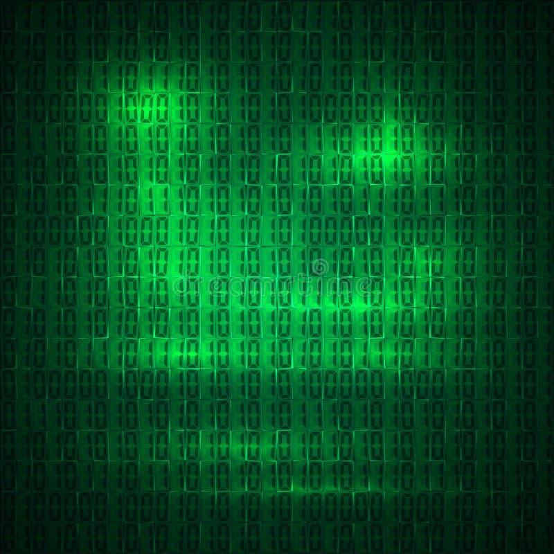 De hexadecimale vectorachtergrond van de computercode stock illustratie