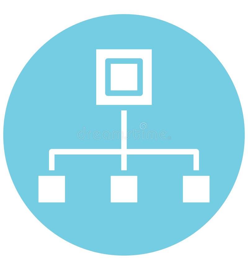 De hiërarchie isoleerde Vectorpictogram dat gemakkelijk kan worden gewijzigd of worden uitgegeven royalty-vrije illustratie