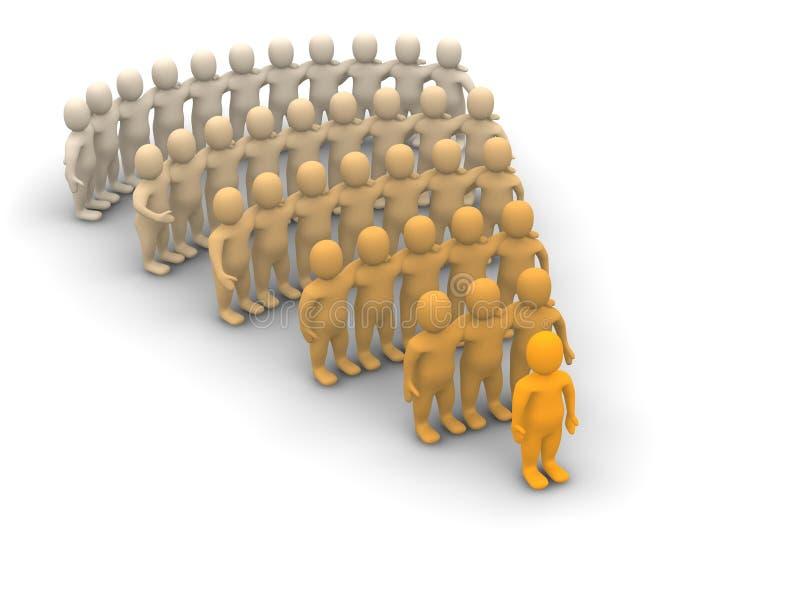De hiërarchie van de leider en van het team vector illustratie