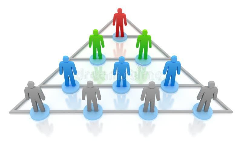 De hiërarchie van de piramide. Bedrijfs concept vector illustratie
