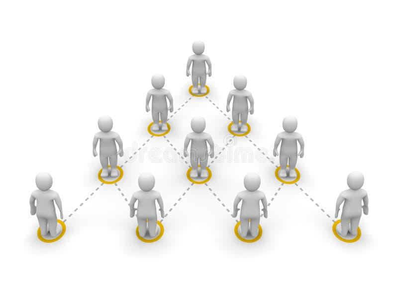 De hiërarchie van het team vector illustratie