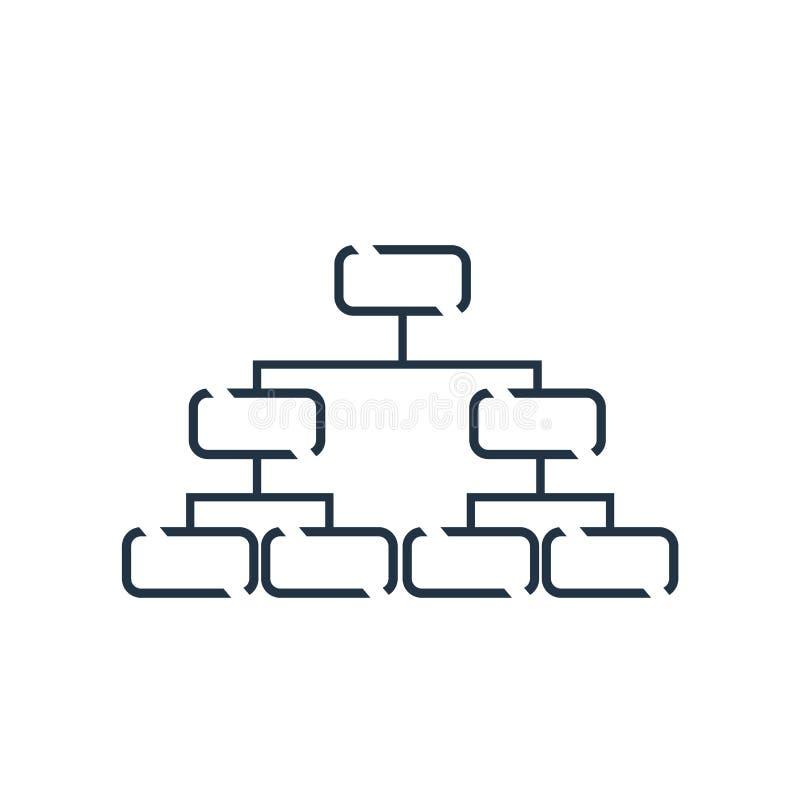 De hiërarchische die vector van het structuurpictogram op witte achtergrond, Hiërarchisch structuurteken wordt geïsoleerd royalty-vrije illustratie