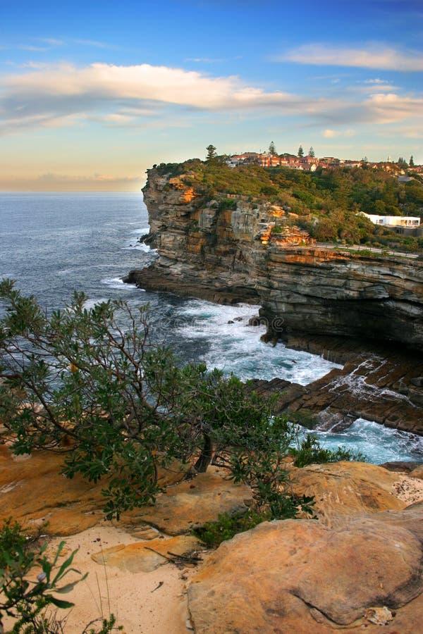 De hiaten, de Baai van Watson, Sydney stock foto's