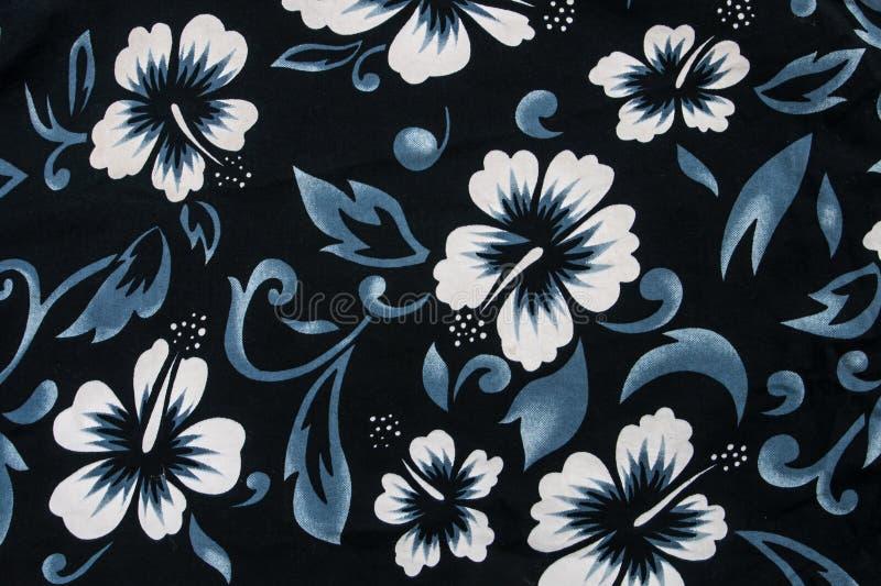 De hibiscus bloeit naadloze stoffentextiel royalty-vrije stock fotografie