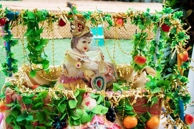De Hindoese God, Lord Krishna, stock foto
