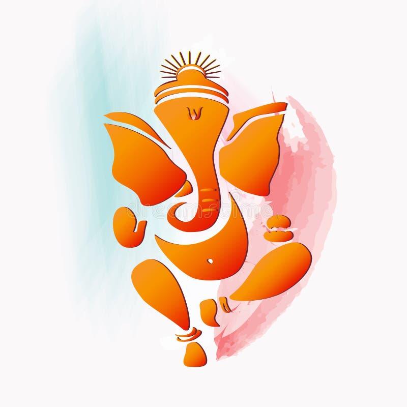 De Hindoese god van Ganesha vector illustratie