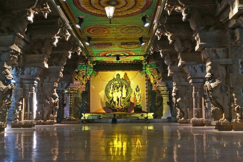 De Hindoese tempel van Meenakshi in Madurai, Tamil Nadu stock afbeelding