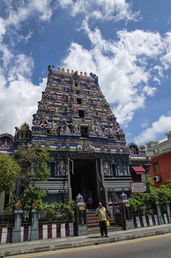 De Hindoese tempel in Victoria, Mahe, Seychellen, royalty-vrije stock fotografie