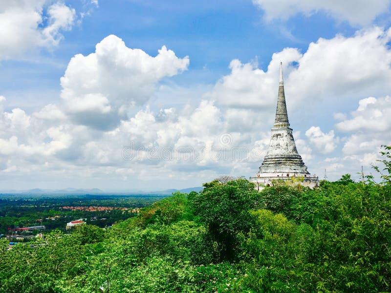 De historische architectuur van pagodephra Nakhon Khiri Khao Wang stock foto's