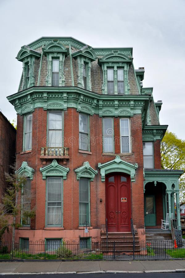 De historische bouw in Cohoes, NY royalty-vrije stock foto