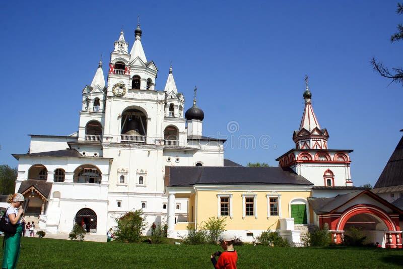 De historische bouw en het de elementen van ` s, Zelenograd, Rusland Godsdienstige architectuur van Rusland stock foto's
