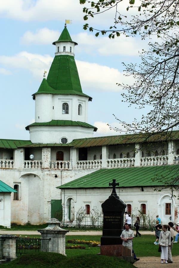 De historische bouw en het de elementen van ` s, Zelenograd, Rusland Godsdienstige architectuur van Rusland stock foto