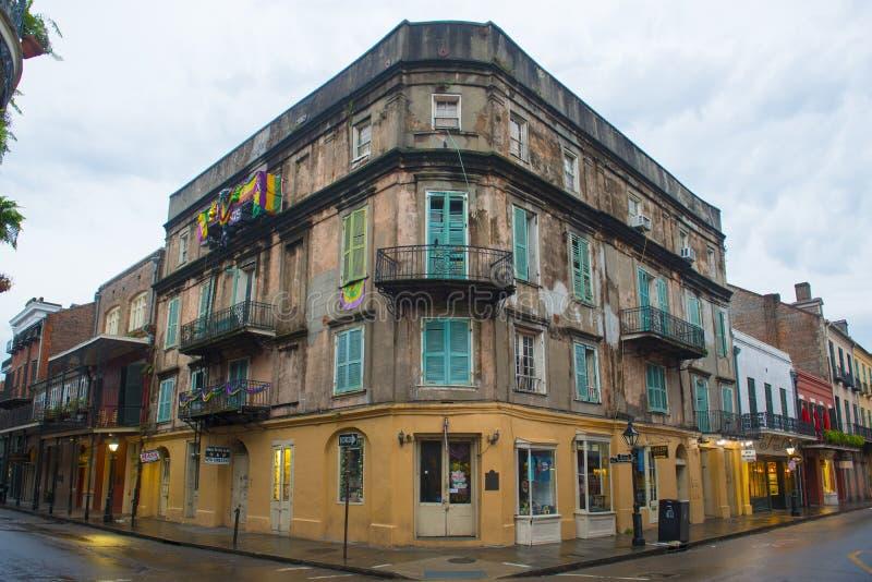 De historische bouw in Frans Kwart, New Orleans royalty-vrije stock foto