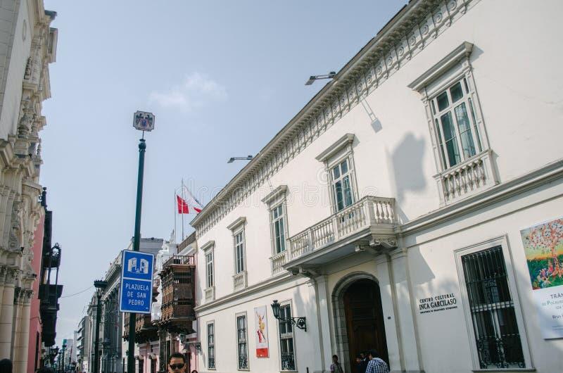 De historische Bouw in Lima stock foto