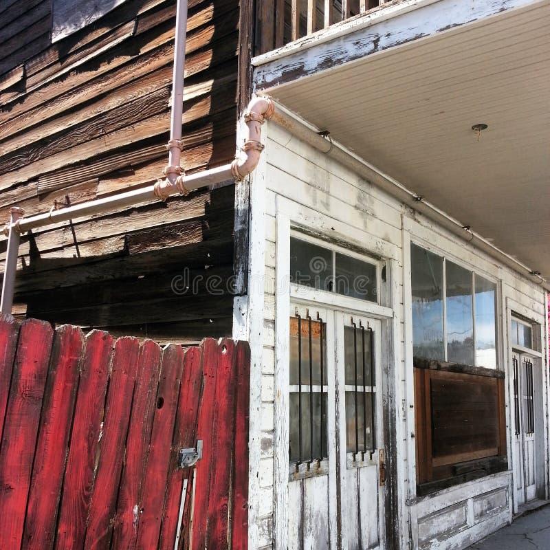 De historische Bouw in Locke, CA royalty-vrije stock foto