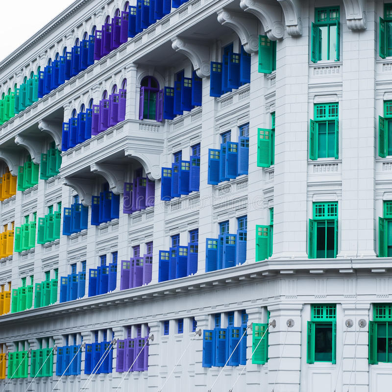 De historische bouw in Singapore. royalty-vrije stock afbeeldingen