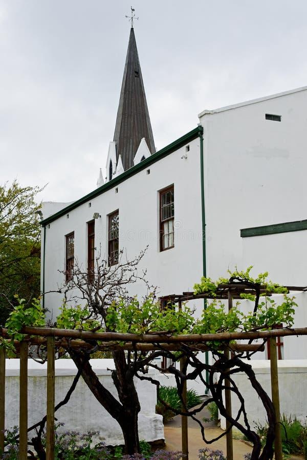 De historische Bouw, Stellenbosch, Zuid-Afrika royalty-vrije stock afbeeldingen
