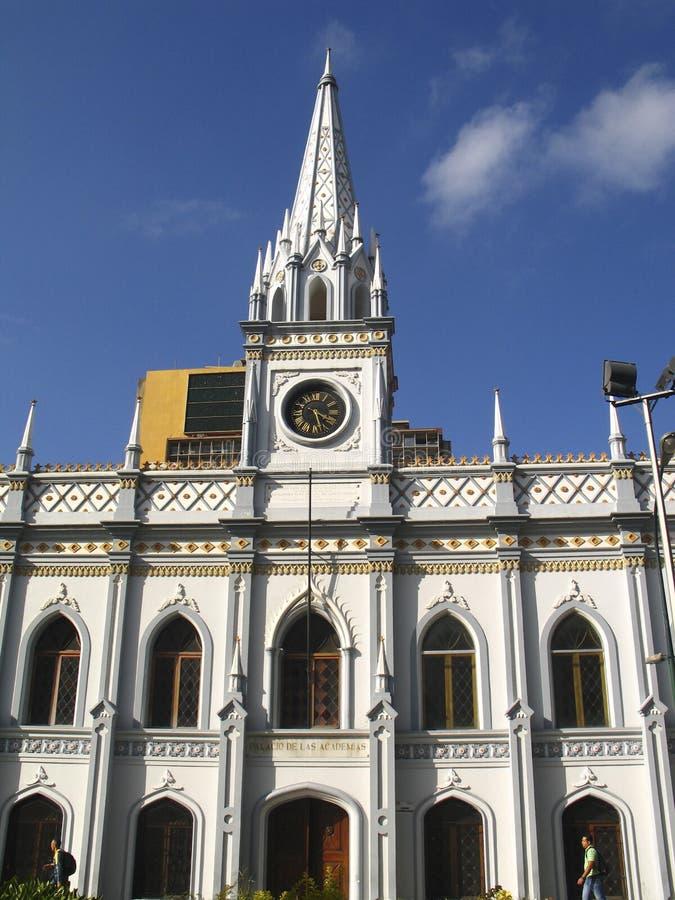 De historische bouw van het Academische Paleis Caracas Van de binnenstad Venezuela stock foto's