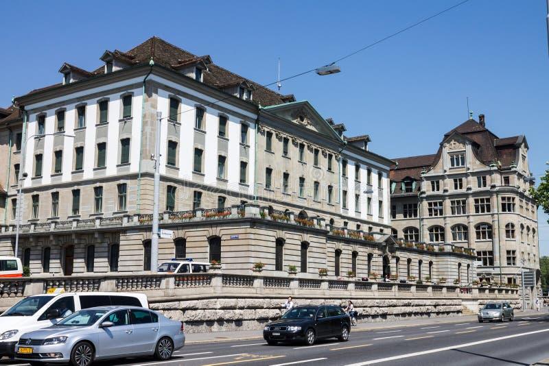 De Historische Bouw van Zürich Zwitserland royalty-vrije stock foto's