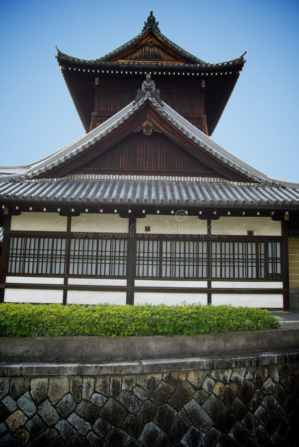 De historische Japanse Bouw stock afbeelding