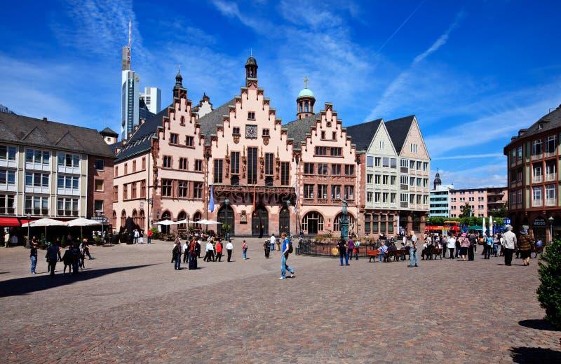 De historische Leiding van Frankfurt, Duitsland stock foto's