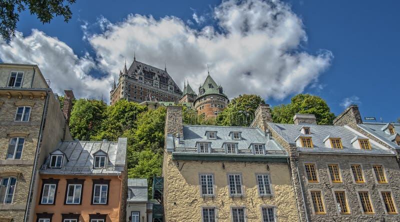 De historische Oude mening van Quebec royalty-vrije stock foto's