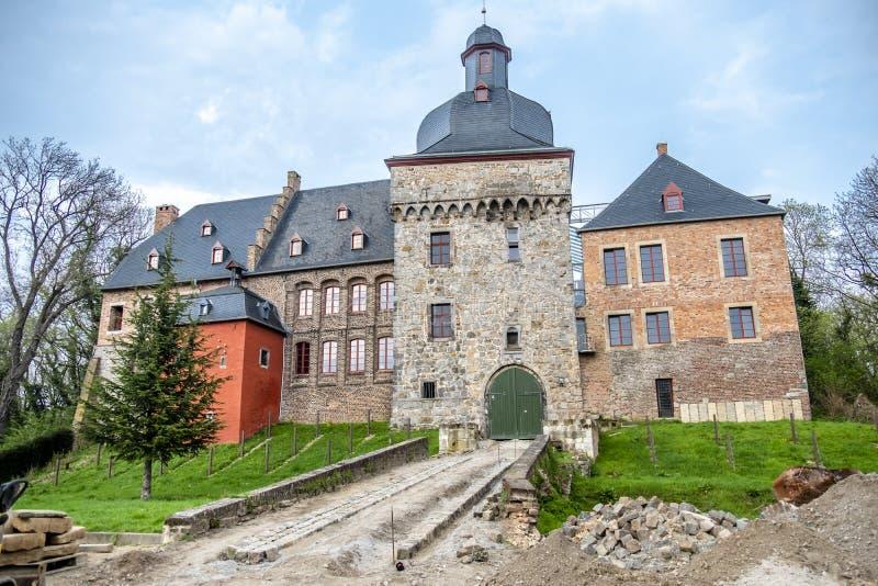 De historische oude stad Liedberg in NRW, Duitsland stock foto's