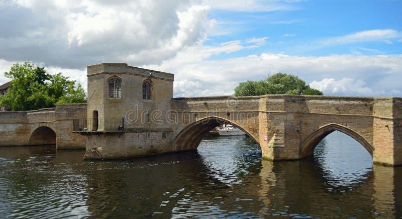 De Historische Pacrkhorse-Brug bij St Ives Cambridgeshire royalty-vrije stock foto's