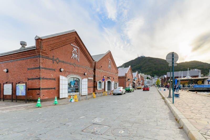 De historische red-brick pakhuizenzaken royalty-vrije stock foto's