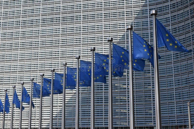De historische stad van Brussel en Europese parlementaire stad royalty-vrije stock foto's