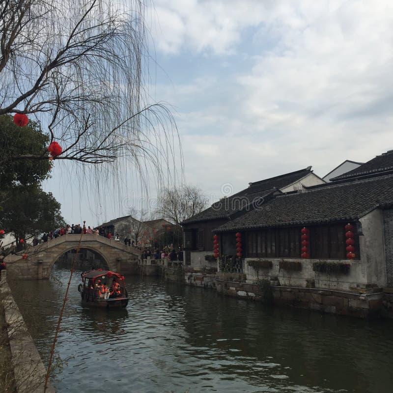 de Historische Stad van Dangkou stock afbeeldingen