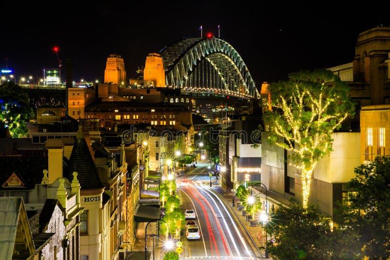 De historische voorstad van de Rotsen, Sydney, Australië stock afbeeldingen