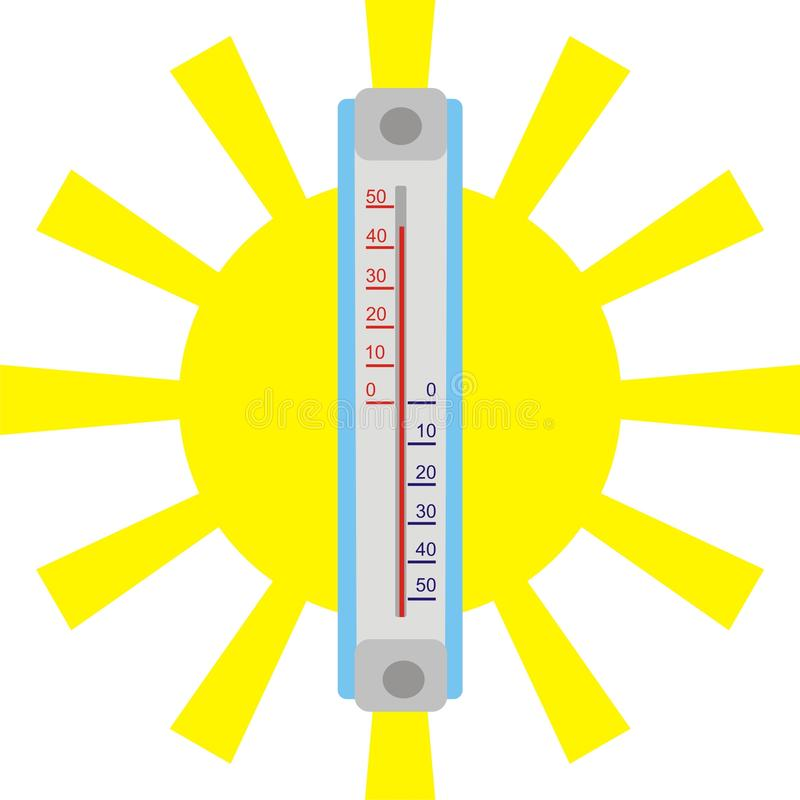 De hitte van de zomer vector illustratie