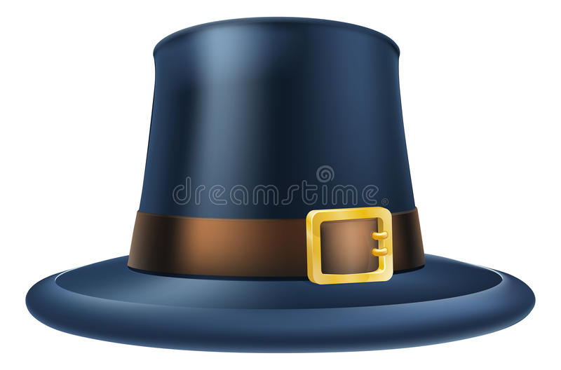 De hoed van de dankzeggingspelgrim stock illustratie