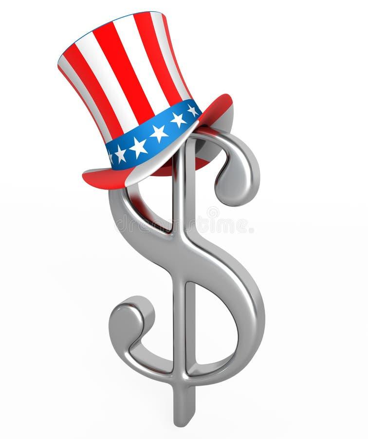 De hoed van de dollar vector illustratie
