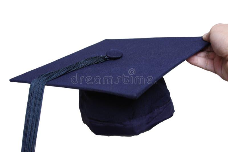 De hoed van de graduatie royalty-vrije stock foto's