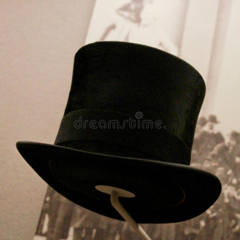 De hoed van de Inauguratie van Grover Cleveland. stock foto's