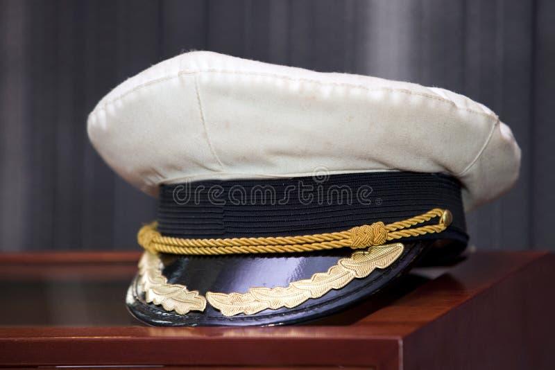 De hoed van de kapitein stock afbeeldingen