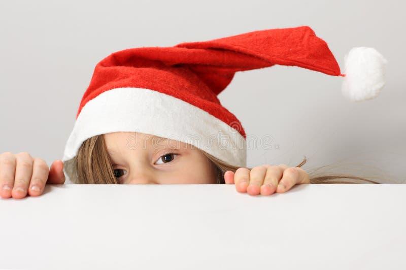 De hoed van de Kerstman royalty-vrije stock afbeelding