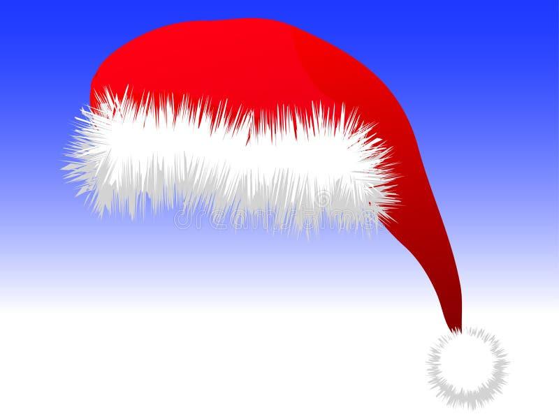 De hoed van de Kerstman stock afbeeldingen