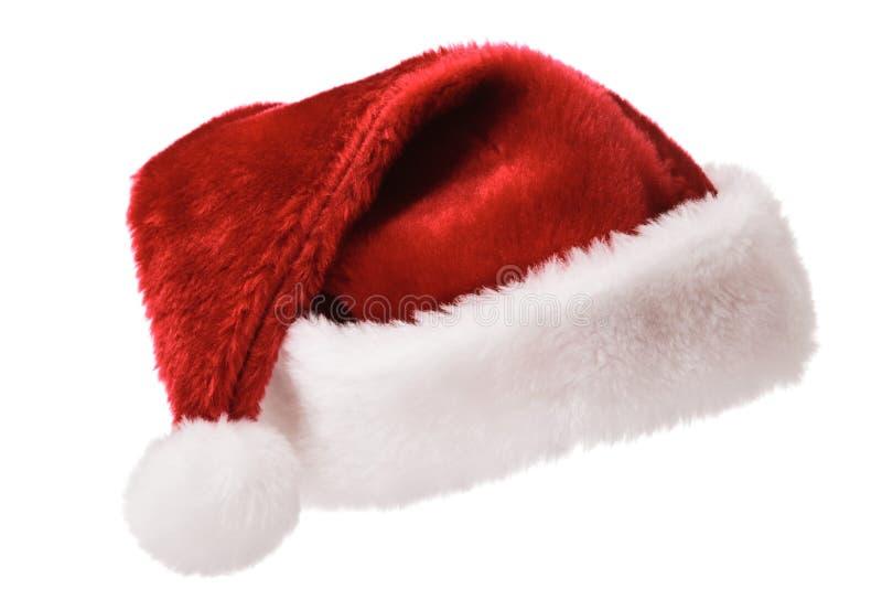 De hoed van de kerstman die op wit wordt geïsoleerd stock foto's