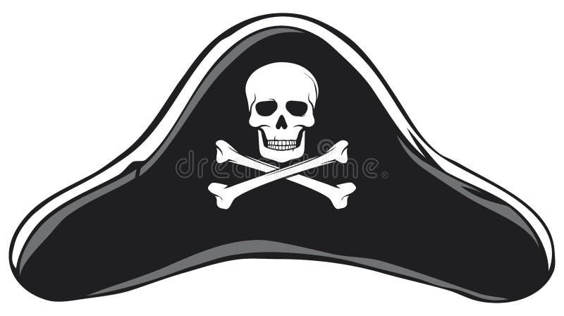 De hoed van de piraat stock illustratie