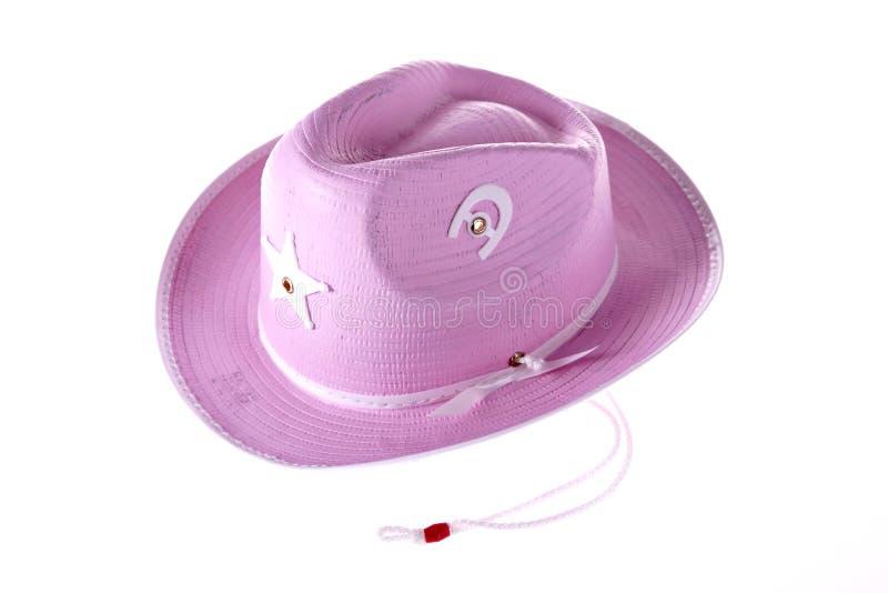 De hoed van de roze Veedrijfster royalty-vrije stock afbeelding