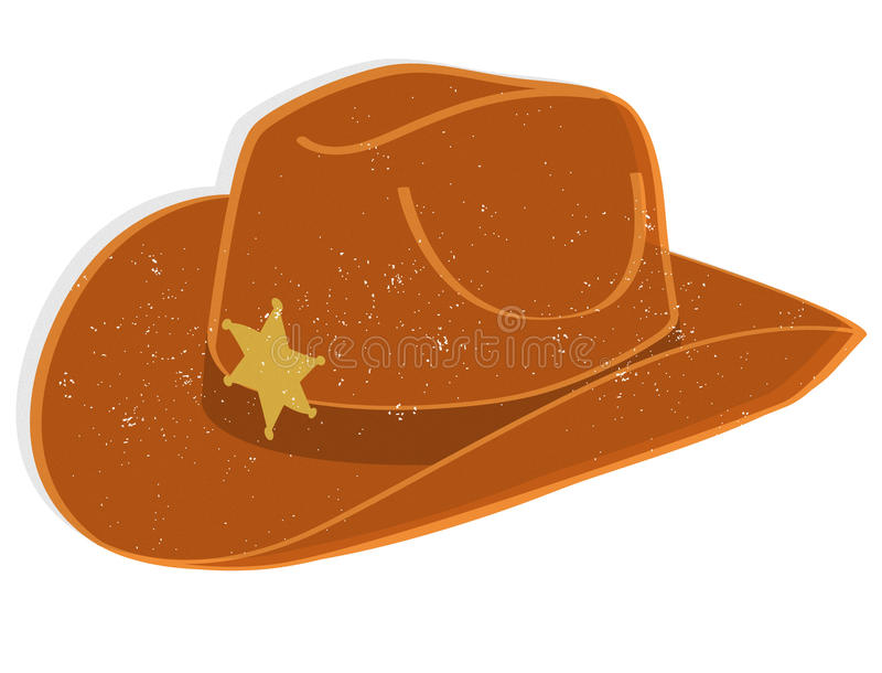De hoed van de sheriff stock illustratie