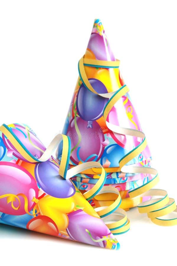 De hoed van de verjaardag royalty-vrije stock foto's