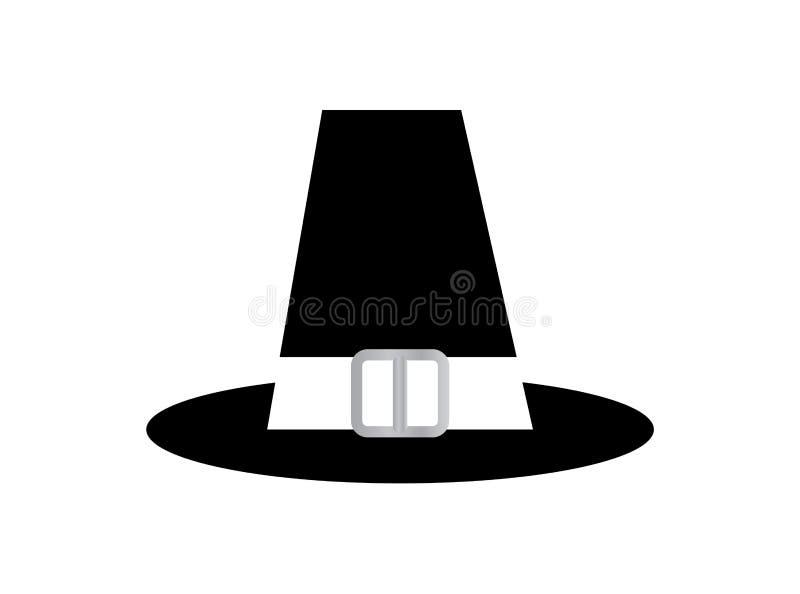 de hoed van de de 18de eeuwheer, op witte achtergrond wordt geïsoleerd die stock illustratie